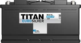 TITAN, ООО «Тубор» Аккумулятор Titan Euro Silver 6СТ-85.0 6СТ-85.0
